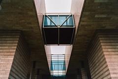 Monolithic Modernism (Taomeister) Tags: artmuseum contaxg2 qinghuauniversity tsinghuauniversity portra400 kodakportra400 biogong28mmf28