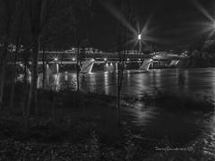 Puente del Pilar (tonygimenez) Tags: puente nocturna rio ebro city zaragoza aragón olympus 17mm hierro agua luces noche puentedehierro ciudad