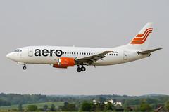 YU-ANJ (PlanePixNase) Tags: zürich zurich zrh lszh kloten airport aircraft planespotting jat boeing 737 737300 b733 aero aerocontractors 733