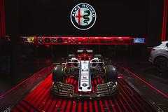 Italian Passion Runs Red (Noah L. Photography) Tags: alfa romeo sauber c37 f1 formula1 formulaone red white blue car racecar italian laautoshow
