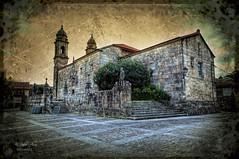 (311/19) Iglesia de San Benito en Cambados (Pablo Arias) Tags: pabloarias photoshop nx2 cielo nubes arquitectura paisaje iglesia torre cambados galicia