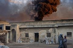 Pottery factory in Fes (JLM62380) Tags: fumée smolder smoke pottery factory feu poterie fabrique work worker artisan travailleur fez fes four oven morocco maroc africa afrique wood fire