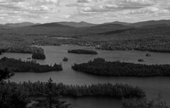 Blue Mountain Lake (bingley0522) Tags: leicaiiic voigtlanderheliar75mmf25 fp4 ilfordfp4 diafine epsonv500scanner adirondacks newyork bluemountainlake castlerock autaut ilovethisplace