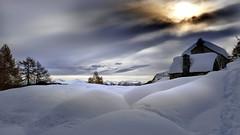 buon tempo si spera (art & mountains) Tags: alpi alps ossola hiking snowshoes esc esp puff pant cip rifugiocrosta baite alpeggio natura cielo silenzio contemplazione vision dream spirit