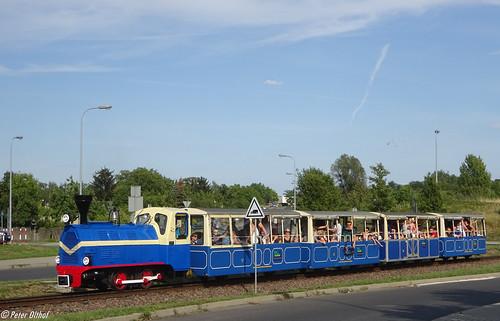 Train pulled by Diesel locomotive Wls40-100