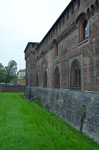 The Moat Around The Sforza Castle [Milan - 2 November 2019]