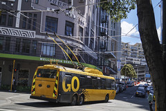 Manners Street - Wellington (andrewsurgenor) Tags: trolleybuses transit trackless trolleybus trolleycoach trolebús trolejbusowy trolleybuswellington trolejbus trolle wellingtontrolleybuses newzealandtrolleybuses filobus obus gowellington nzbus