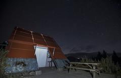 Star shines/Taichung (Changyou Lee) Tags: taiwan 台灣 台中 武陵四秀 武陵農場 桃山 桃山山屋 山屋 銀河 星空 星星 night 雪山山脈 outside mountain