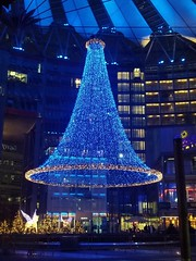 Sony Center Holiday lights (cohodas208c) Tags: sonycenter helmutjahn bluechristmas potsdamerplatz