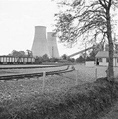 Cooling down the midlands (National Library of Ireland on The Commons) Tags: jamespo'dea o'deaphotographiccollection nationallibraryofireland ferbanepowerstation cooffaly esb electricitysupplyboard peatturfburning venturi railtracks