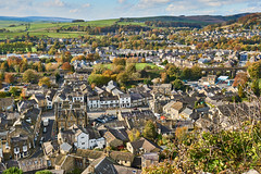 Settle from Castlebergh (scottprice16) Tags: england yorkshire ribblevalley settle town roads streets bridge viaduct railway settlecarlisleline castlebergh rock viewpoint view hills market markettown medieval hisotry historic colour autumn october 2019 trees leaves sony sonya6000 zeiss1670mmf4oss landscape northernengland yorkshiredalesnationalpark