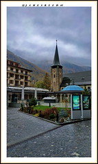 Zermatt centre - Valais - Suisse (jamesreed68) Tags: zermatt église church suisse switzerland schweiz alps alpes valais swiss paysage nature redmi note brume