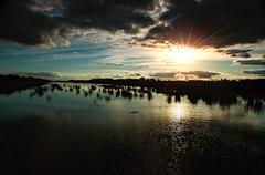 Midlands Sunset (2c..) Tags: dji 2cimage 2c drone bog peatland water sunset light cloud sun rays p3 kildare evening marked digital