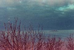.where there was much more sky than land. (Camila Guerreiro) Tags: film adox pentaxmesuper colorimplosion montsaintmichel france analog grain sky camilaguerreiro blue