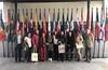 Los participantes en la XIII edición del programa Maestros Sobresalientes de Colombia en la sede de la OEI en Madrid
