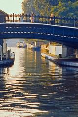 Regent's Canal (AntyDiluvian) Tags: england greatbritain britain london vintage zoo londonzoo canal regentscanal canalboat waterbus bridge