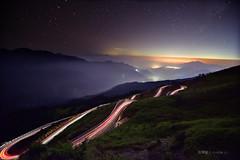 秋來的平靜 (風景獵人) Tags: taiwan 台灣 風景 風景獵人 landscape 星軌 startrail 星跡 星空 sky night track 雲海 琉璃光 fog 合歡山 hehuan nantou