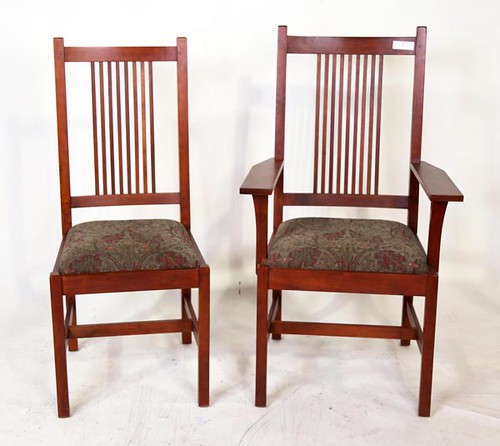 6 Stickley  Mission Style Dining Room Chairs ($1,092.00)