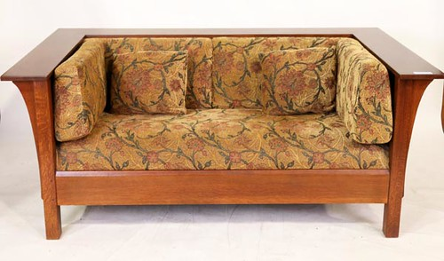 Stickley Mission Oak Prairie Settle loveseat & Chair ($1,904.00)