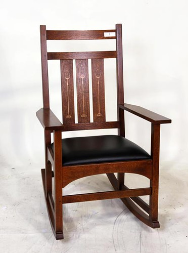 Stickley Harvey Ellis Oak Inlay-ed Rocker ($476.00)