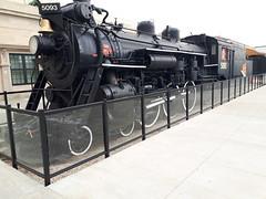 Canadian National steam locomotive 5093, Regina, Saskatchewan, Canada (JarvisEye) Tags: steam locomotive engine canadiannational railway railroad cn 1918 montreallocomotiveworks passenger train regina saskatchewan canada