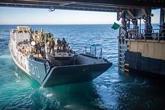 "Landing Craft, Utility 1630 exits the well deck of the amphibious dock landing ship USS Harpers Ferry (#PACOM) Tags: usnavy unitedstatesnavy ussharpersferry forgedbythesea sailors lsd49 amphibiousdocklandingship lsd harpersferryclass underway ussboxeramphibiousreadygroup arg us3rdfleet deployment tigercruise welldeckoperations usindopacificcommand ""usindopacompacific ocean"