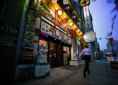 Joy (Darren LoPrinzi) Tags: 5d canon5d philadelphia philly urban canon city miii street streetphotography sign signage restaurant sidewalk motion walk walking statue signs chineserestaurant