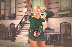 Receiving A Lovely Message Is The Epilogue Of A Perfect Date (alexandra sunny) Tags: insomnia svp ddl cosmopolitanevent catwa maitreya aviglam navycooper secondlfe blog blogger fashion female woman landscape pose event green phone date