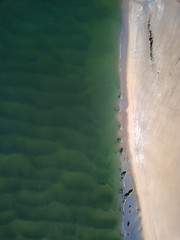 Emerald and Gold (Sean Hartwell Photography) Tags: dji drone mavicpro sea seaside beach kerry ireland inch strand green sand water abstract