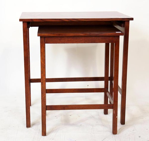 Stickley Nesting Tables with inlay ($364.00)