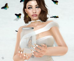 the truly beauty is in the freedom_ (!_Thedra Diesel_! - [ Blogger ♥]) Tags: butterflies greeneyes arise asllie ebeauty alme frenchnails chritsmas animale chocker earrings snowflake genusskin eyeshadows velour shinyshabby sense dubaievent itstyle