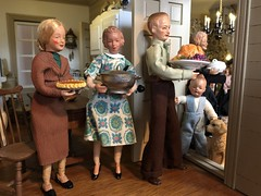 16. Team work (Foxy Belle) Tags: caco doll thanksgiving dollhouse food 112 family kitchen holiday turkey