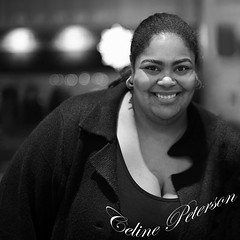 Celine Peterson (Anthony Mark Images) Tags: people portrait celinepeterson organizer spokesperson daughterofoscarpeterson oscarpeterson daughterofalegend jazzmusic voicesoffreedomconcert bravoniagara prettywoman smile blackandwhite monochrome stcatherines ontario canada concert woman lovelylady