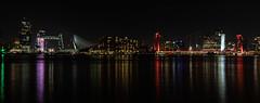 the Skyline of Rotterdam ... (Photostreamkatwijk) Tags: rotterdam skyline avondfotografie panorama dehef erasmusbrug willemsbrug bridge overview nacht kleuren langesluitertijd