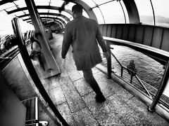 Istanbul Metro (Klaus Wessel) Tags: olympus omd em10 street streetlife streetphotography monochrome blackwhite bw ubahn metro istanbul fisheye 8mm