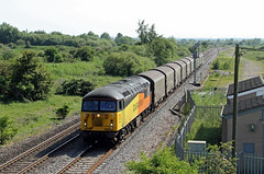 56302 Catholme Lane, Wychnor (CD Sansome) Tags: catholme lane wychnor junction train trains grid 56 56302 colas rail 6e07 washwood heath boston docks
