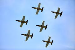 Breitling  Jet Team (Bernie Condon) Tags: team formation display aerobatic planes jet jets l39albatros albatros trainer breltlingjetteam breitling bigginhill airport londonbigginhill historic airfield airshow aviation flying aircraft plane festivalofflight