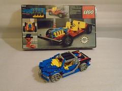 Retro Bugatti Chiron (set 853) (nathanjsullivan) Tags: lego bugatti chiron technical set technic moc car vehicle 853 42083 retro
