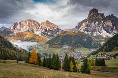 Into the Val Gardena (Kadu Flyer) Tags: valgardena dolomites mountains valley trees italy larch clouds