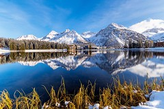 Winter in Arosa (Markus.Widmer) Tags: view schnee aussicht winter berge panorama snow bäume trees tannen blau spiegelung mood arosa stimmung weiss mountain