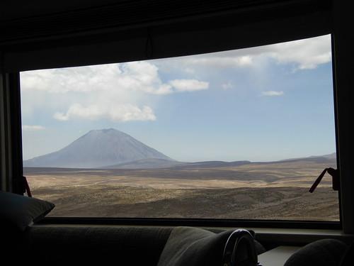 Volcano Misto from Belmond Andean Explorer