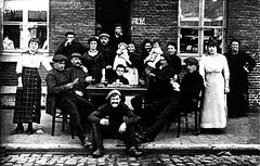 my great-grandparents : a little estaminet in Ghent (delnaet) Tags: familie family famille overgrootouders estaminet café volksbuurt ghent gand gent belgium