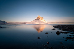 Reflections at Kirkjufell (FamHiroshima) Tags: landscape reflection iceland icelandlandscape kirkjufell fuji xt2 rokinon12mm nature beautiful mountain mountainscape lake winter winterscape peaceful scenic scenery travel adventure