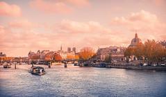 Le Pont des Arts (Ro Cafe) Tags: paris river seine bridge boats city cityscape urban autumn nikkor2470mmf28 sonya7iii