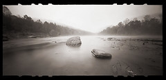 October on the River (DRCPhoto) Tags: zeroimage612b pinhole lenslessphotography kodakt400cnfilm 120film cheatriver albright prestoncounty westvirginia