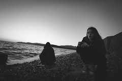 Sad-Fo_46 (SadFo_x1) Tags: rocks water sea aegean greece samos nature natureisanartist sky sunset light beach landscape remembrance outside portrait people girl art new camera bw blackandwhite black white