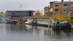 Moorings (Croydon Clicker) Tags: canal boats barges towpath water buildings reflection kingscross london nikon nikkoraf28105mmd smoke