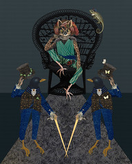 hooliman the magnificent (yumikrum) Tags: yumikrum collage art birds fairytale fantasy sultan harem story magical magic exotic anthropomorphism oriental twins royal royalty orientalism dodo arabian magnificent power majesty childrens illustration greetings classic aliceinwonderland wonderland alice lookingglass