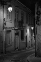 In a quiet summer night (lebre.jaime) Tags: portugal beira covilhã architecture nightphotography nocturnal analogic film135 bw blackwhite noiretblanc nb pretobranco pb kodak tmax3200 tmz2 ptbw leicam3 summicron2050dr epson v600 affinity affinityphoto