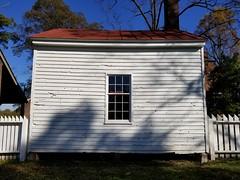 Farm Office at Carter House - Franklin, TN_20191102_101425 (Wampa-One) Tags: franklintn civilwar battleoffranklin carterhouse battledamage bulletholes clapboard outbuilding